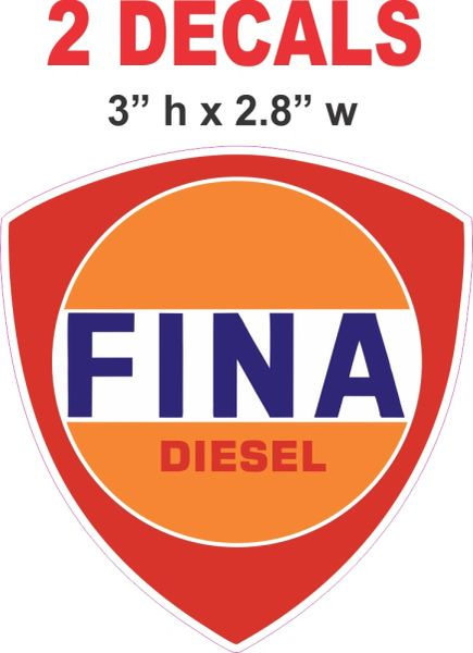 2 Fina Diesel Decals