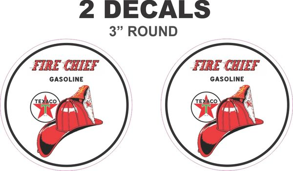 2 Texaco Fire Chief Decals