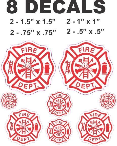 10 Fire Department Decals