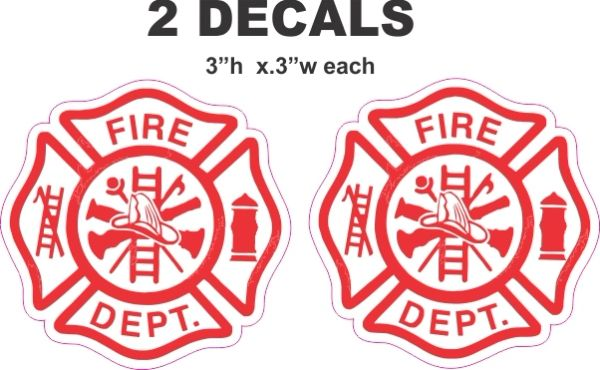 2 Fire Department Decals