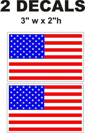 2 American Flag Decals - Bright and Crisp. Nice Colors