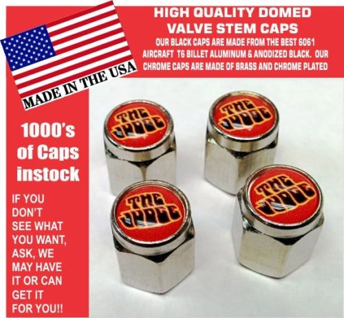 Chrome Pontiac Goat GTO Judge 455 Ram Air Red Valve Stem Caps All Metal