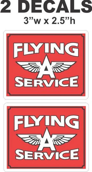 2 Nice Vintage Style Flying A Service Decals