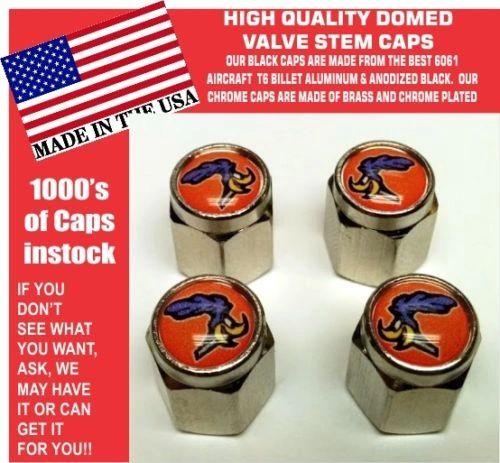 Domed Header Orange Plymouth Road Runner Superbird Super Bird Stem Caps Mopar