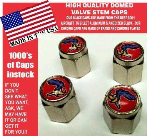 Domed Red Plymouth Road Runner Superbird Super Bird Valve Stem Caps Mopar
