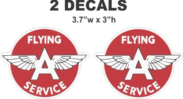 2 Flying A Service Decals Very Nice - Sharp Image