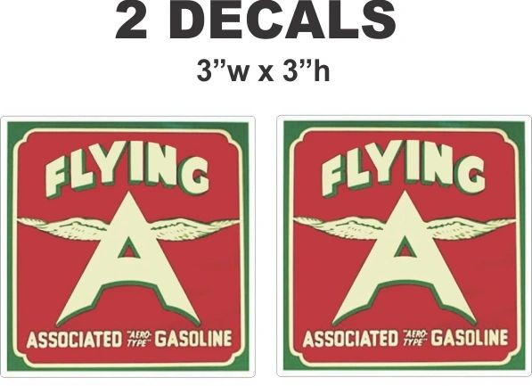 2 Vintage Style Flying A Associated Aero Gasoline