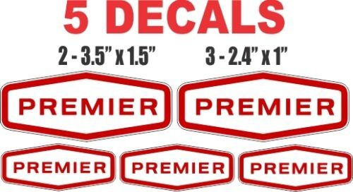 5 Premier Gasoline Decals