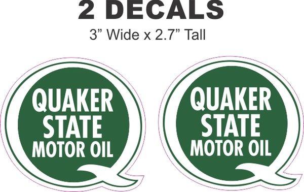 2 Quaker State Motor Oil Decals