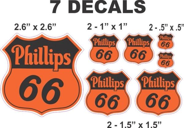 7 Phillips 66 Orange - Great for Scale Models - Gas / Oil cans - Dioramas