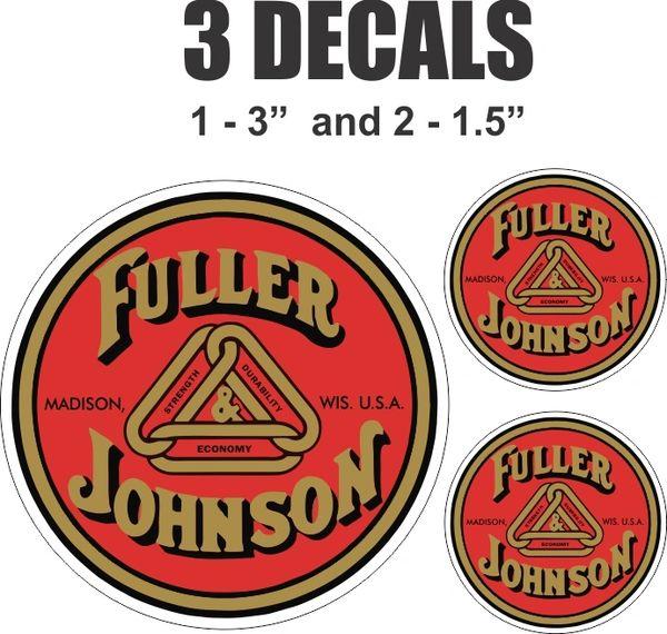3 Fuller Johnson Decals