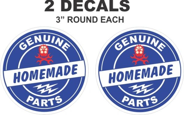 2 Genuine Homemade Parts Decals