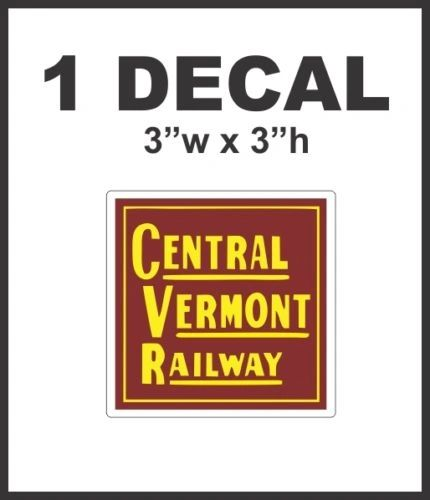 Central Vermont Railway Railroad Rail Road Decal Diorama Lionel Train HO Scale