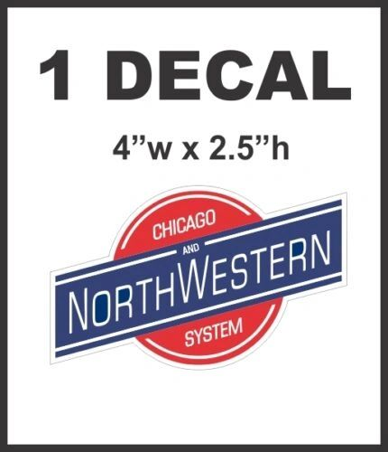 Chicago North Western System Railroad Line Rail Road Decal Diorama Train - Nice
