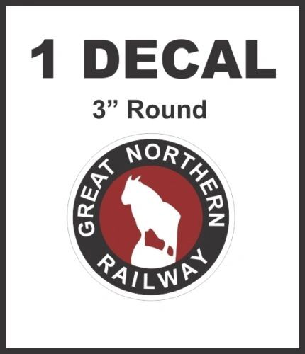 Great Northern Railway Railroad Line Rail Road Decal Diorama HO Scale - Nice