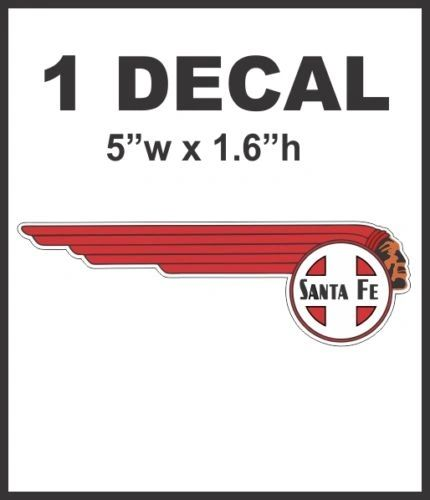 Right Facing SantaFe Santa Fe Chief Railroad Rail Road Decal Diorama Scale No Pixels!