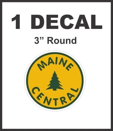 Maine Central Railway Railroad Line Rail Road Decal Diorama HO Scale - Nice