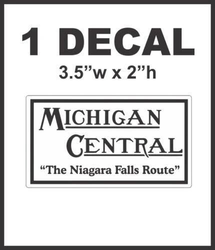 Michigan Central Niagara Falls Route Railroad Rail Road Decal Diorama Train NICE