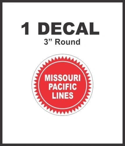 Missouri Pacific Lines Railroad Rail Road Lines Company Decal NICE