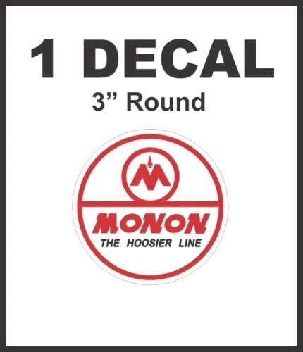Monon The Hoosier Line Railway Railroad Rail Road Decal Diorama Scale No Pixels!