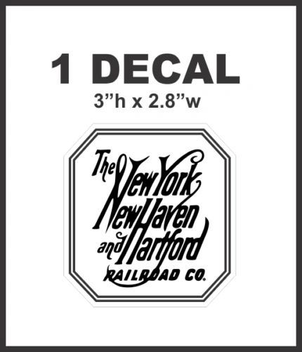 New York New Haven and Hartford Railroad Rail Road Lines Company Decal NICE
