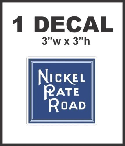 Nickel Plate Road Railways Railroad Rail Road Decal Diorama Lionel Train Nice