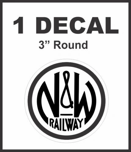 Norfolk and Western Railway RY Railroad Rail Road Decal Lionel Train - Nice