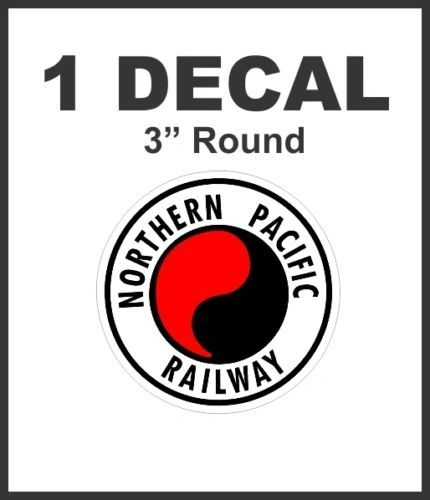 Northern Pacific Railway Railroad Rail Road Way Lines Company Decal NICE