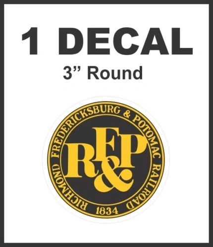 RF&P Richmond Fredericksburg & Potomac Railroad Rail Road Decal Lionel Train