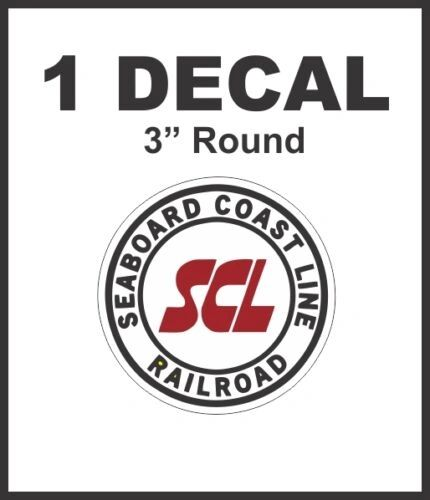 Seaboard Coast Line Railroad Rail Road Way Lines Company Decal NICE
