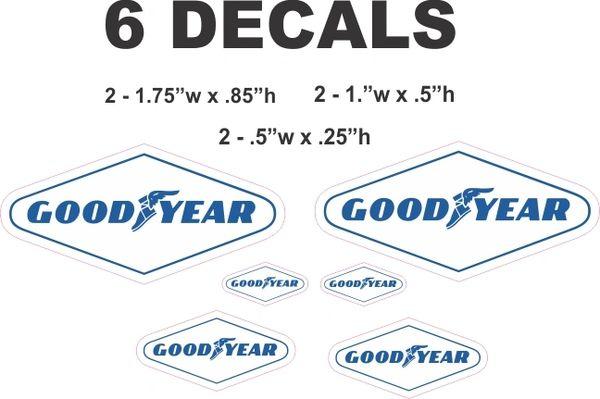 6 Goodyear Good Year Decals