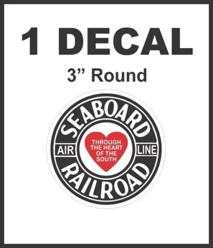 Seaboard Railroad Through The Heart of the South Decal Rail Road HO Scale Lionel