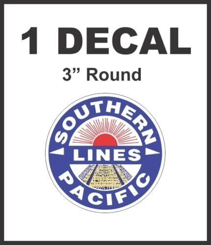 Southern Pacific Lines Railroad Rail Road Decal Diorama Train Never Any Pixels!