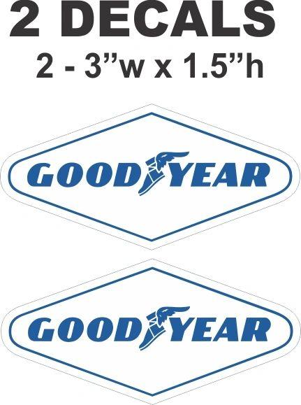 2 Good Year Goodyear Decals