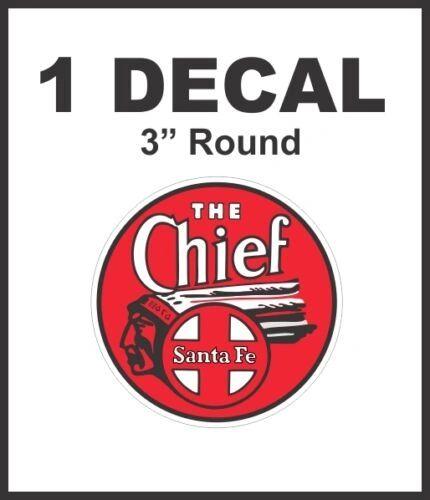 The Chief Santa Fe Railroad Rail Road Way Lines Decal Diorama Lionel Train