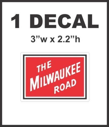 The Milwaukee Road Railway Railroad Rail Road Lionel Train Diorama Decal