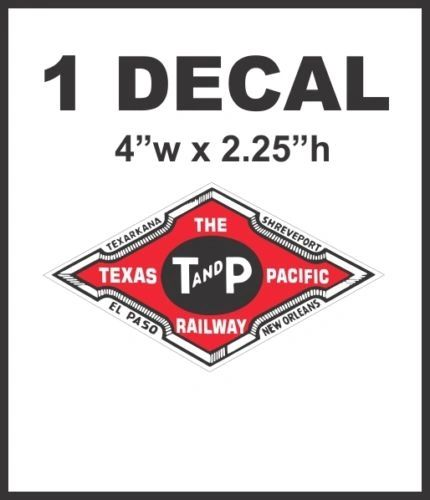 The Texas Pacific Railway Railroad Rail Road Decal Diorama Lionel Train HO Scale
