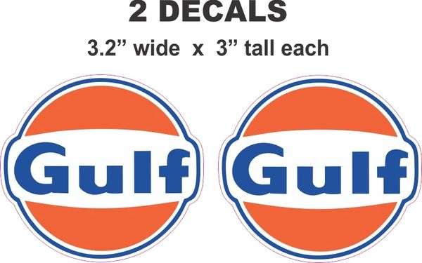 2 Gulf Gasoline Decals