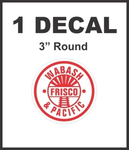 Wabash and Pacific Frisco Railroad Line Rail Road Decal Diorama HO Scale - Nice