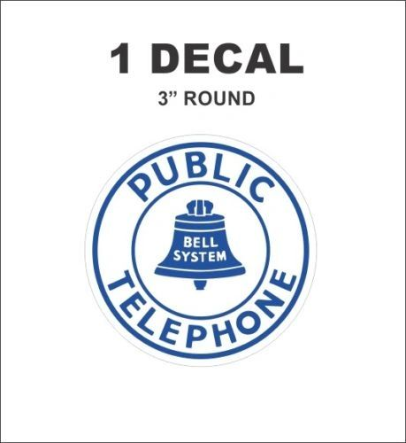 Vintage Style Bell Public Telephone Decal
