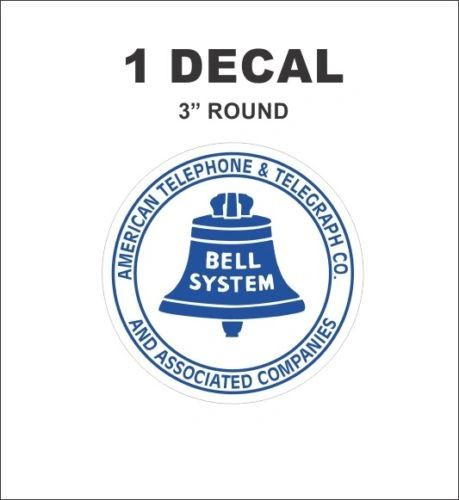 Vintage Style Bell System American Telephone & Telegraph Associated Co. Decal