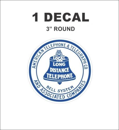 Vintage Style Bell System Telephone Local and Long Distance Decal