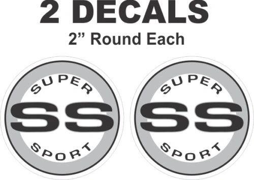Chevrolet Black Round SS Super Sport Camaro Nova Chevelle Monte Carlo Vinyl Decal