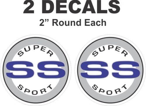 Chevrolet Blue Round SS Super Sport Camaro Nova Chevelle Monte Carlo Vinyl Decal