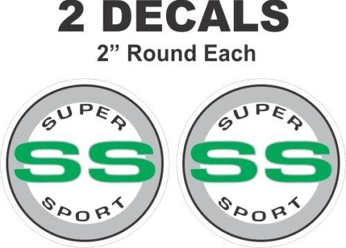 Chevrolet Green Round SS Super Sport Camaro Nova Chevelle Monte Carlo Vinyl Decal