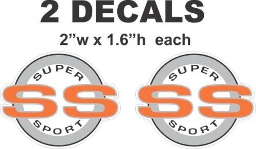 Chevrolet Orange SS Super Sport Camaro Nova Chevelle Monte Carlo Vinyl Decals