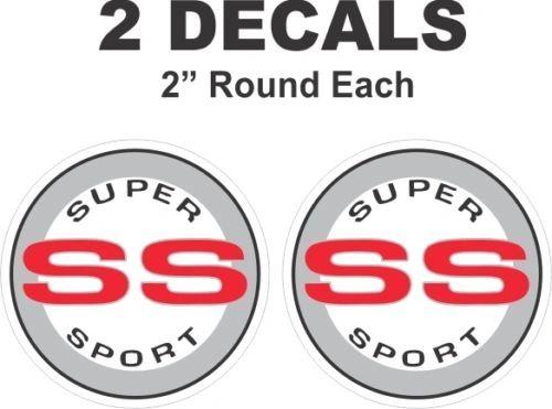 Chevrolet Red Round SS Super Sport Camaro Nova Chevelle Monte Carlo Vinyl Decal