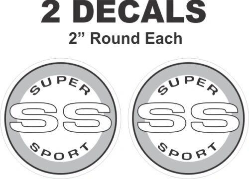 Chevrolet Round SS Super Sport Camaro Nova Chevelle Monte Carlo Vinyl Decal
