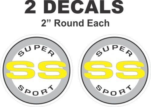 Chevrolet Yell Round SS Super Sport Camaro Nova Chevelle Monte Carlo Vinyl Decal