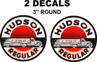 2 Hudson Regular Gasoline Decals